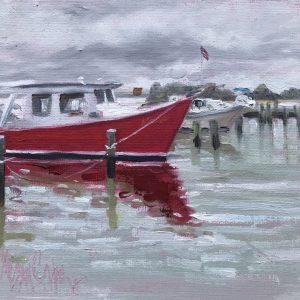 Red Hull in Rain
