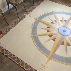 Custom Designed & Painted Floorcloth